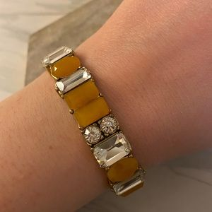 J Crew Factory Yellow Stretch Bracelet